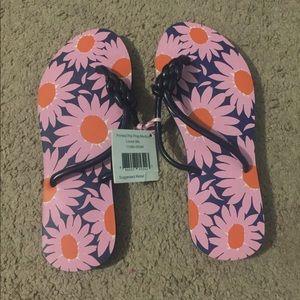 Vera Bradley Floral Flip Flops Size M